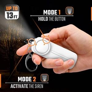 Alarm with LED light